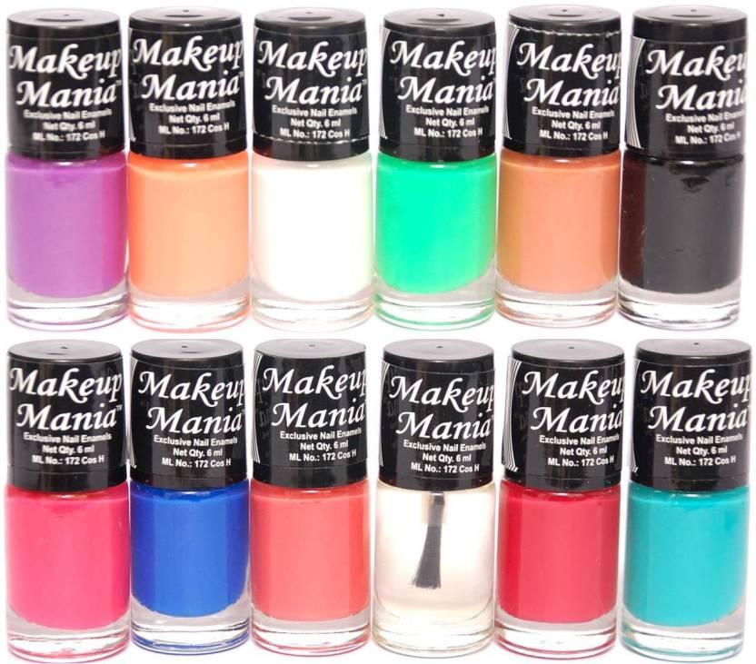 Makeup Mania Exclusive Nail Polish Set of 12 Pcs. Multicolor MM-93 ...
