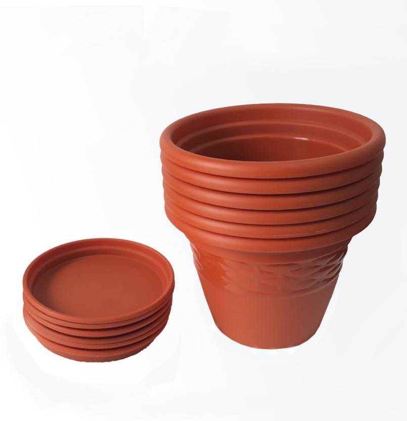 siti plast 10 inch heavy duty plastic garden planters with bottom