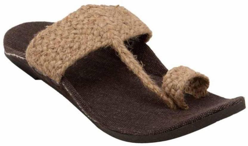 9c6f7a9129d5f Rajwari Men beige jute Sandals - Buy Rajwari Men beige jute Sandals ...