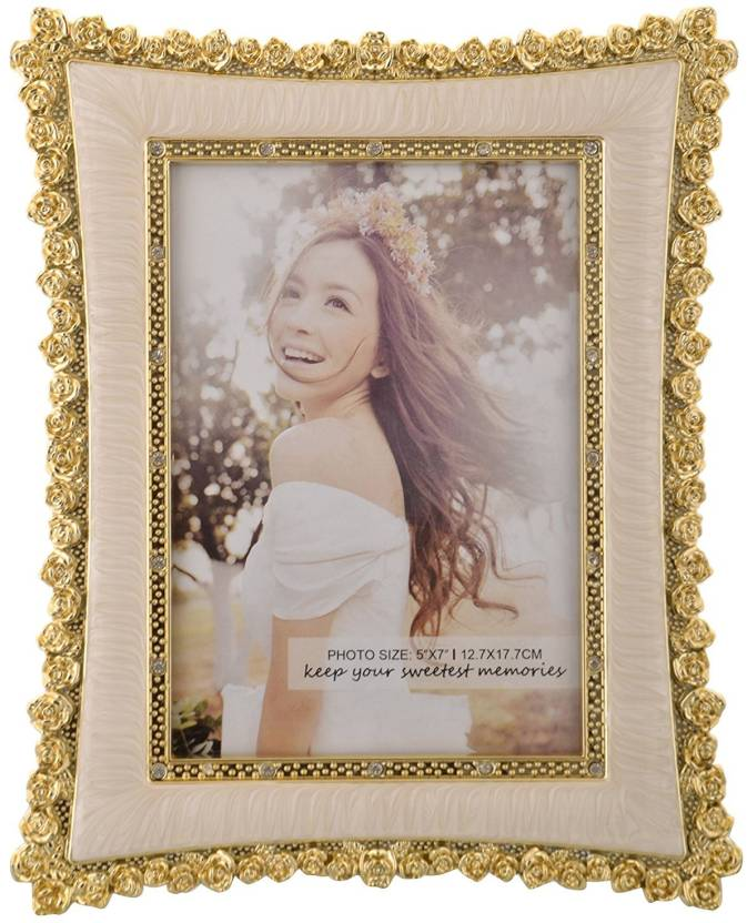 INTERNATIONAL GIF INTERNATIONAL GIFT Gold Plated Photo Frame Size ...