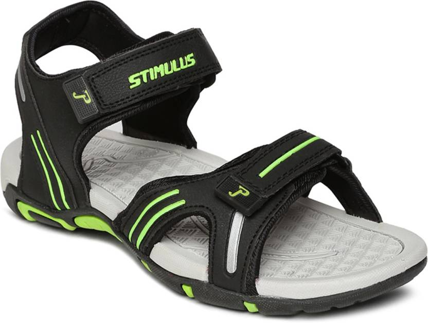 Paragon Men Black-Green Sandals - Buy Paragon Men Black-Green ...