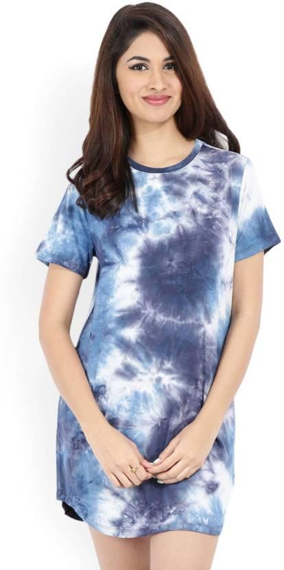 Forever 21 Women T Shirt Multicolor Dress Buy Navy Dusty Blue