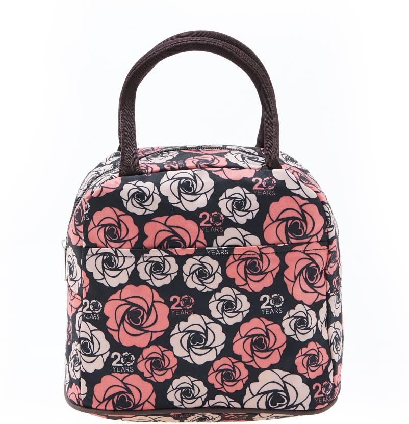 Ez Life Cute Carry Bag Roses Black Waterproof Shoulder