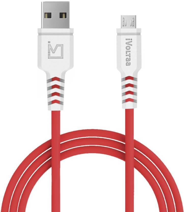 iVoltaa iVPC IM RED1 Micro USB Cable   Compatible with All Phones With Micro USB Port, Red, Sync and Charge Cable  iVoltaa Mobile Cables
