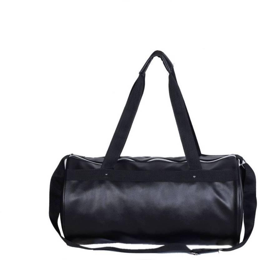 Rr Accessories Vivacious Black Leather Rite Gym Bag