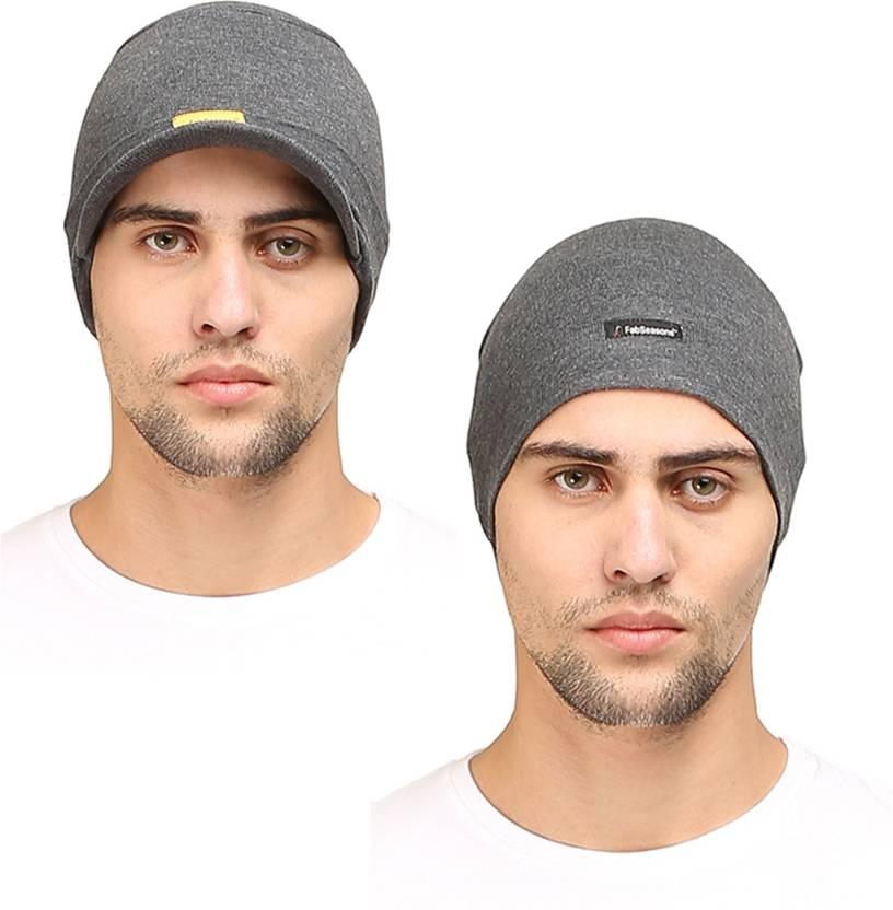 42cf1ca7 FabSeasons Solid Cotton Skull Cap Cap - Buy FabSeasons Solid Cotton ...