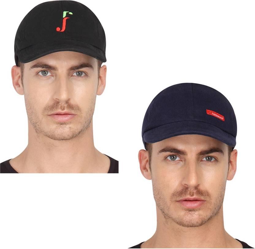 3c47d1a4 FabSeasons Solid Cotton Hosiery Baseball Summer Regular Caps Cap (Pack of 2)