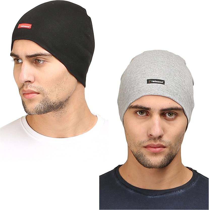 a9bc0304350 FabSeasons Solid Cotton Skull Cap