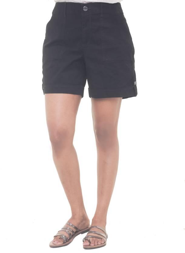 black khaki shorts womens