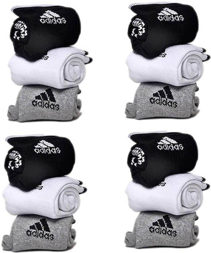 Adidas Men & Women Ankle Length Socks  (Pack of 12)