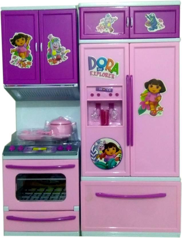 Presentsale Beautiful Dora The Explorer Light Sound Kitchen Set For