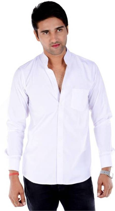 e5a424acd09 S9 Fashion Men Solid Casual White Shirt - Buy White S9 Fashion Men Solid  Casual White Shirt Online at Best Prices in India
