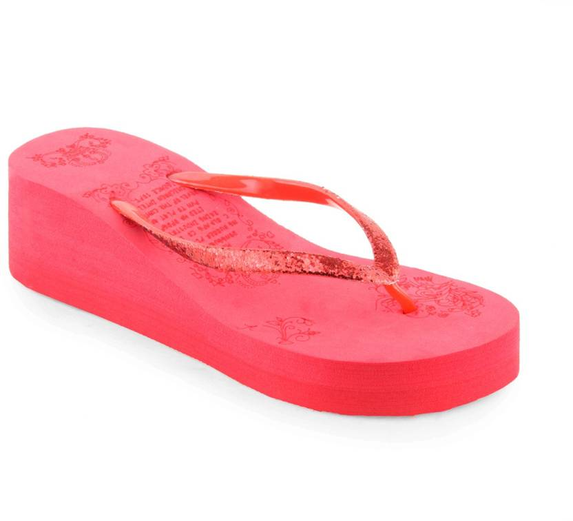 60caa64d8fb Shoe Lab Slippers - Buy Red Color Shoe Lab Slippers Online at Best Price -  Shop Online for Footwears in India