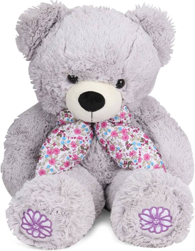Starwalk Light Grey Bear Plush with Floral Printed Scarf 50 cm  - 50 cm