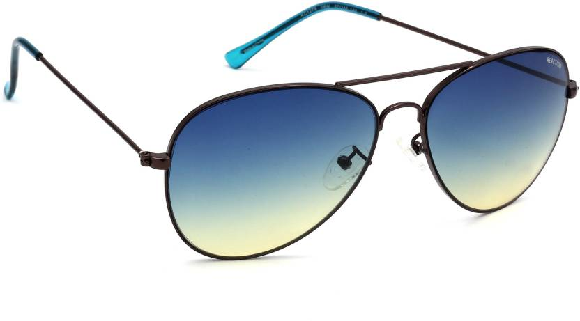 3c8443a2d Buy Kenneth Cole Aviator Sunglasses Blue For Women Online @ Best ...