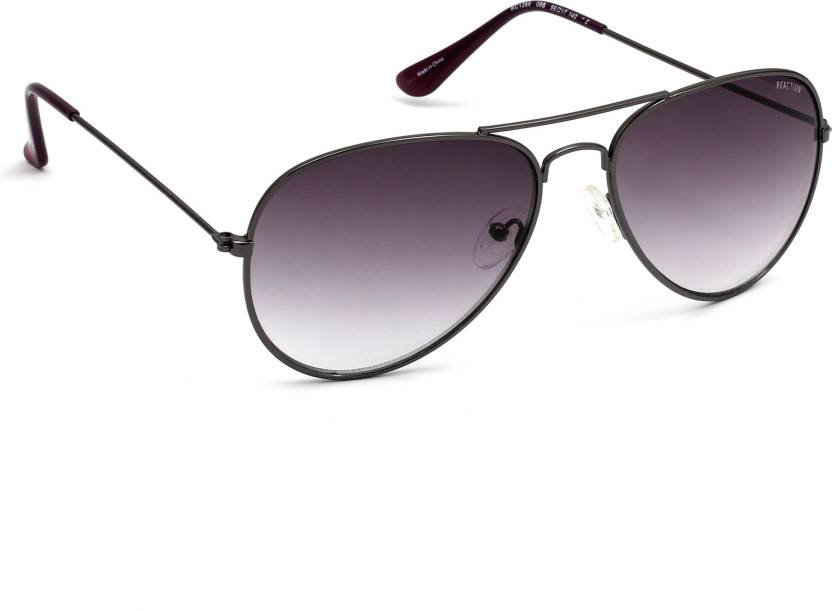 97087a13c83 Buy Kenneth Cole Aviator Sunglasses Grey For Women Online   Best ...