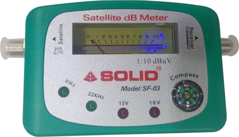 Webshoppers Solid Satellite dB Meter SF-03 Analog Voltage Tester