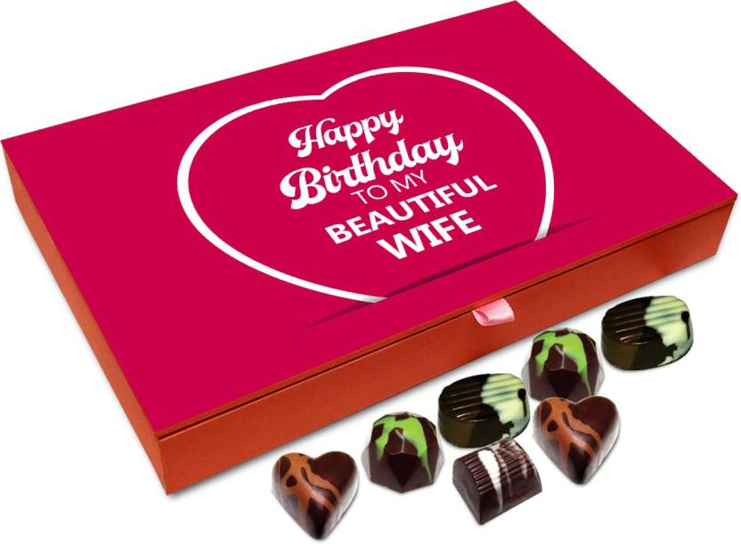 Chocholik Gift Box Happy Birthday My Beautiful Wife Chocolate Box