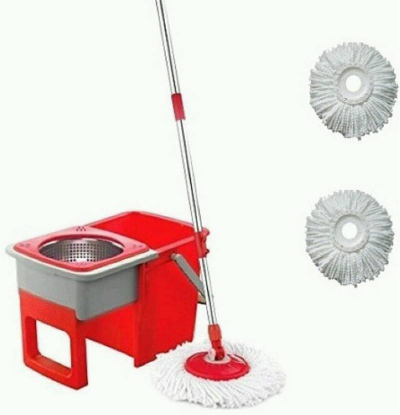 ShopyBucket Spin Mop with real wheel for easy cleaning-9 Mop