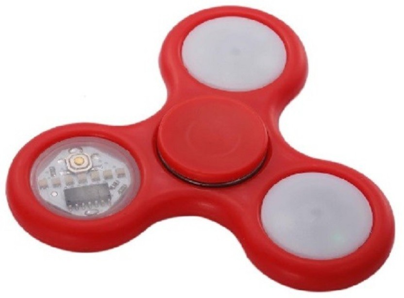 Red Fidget Hand Spinner with Colored LED