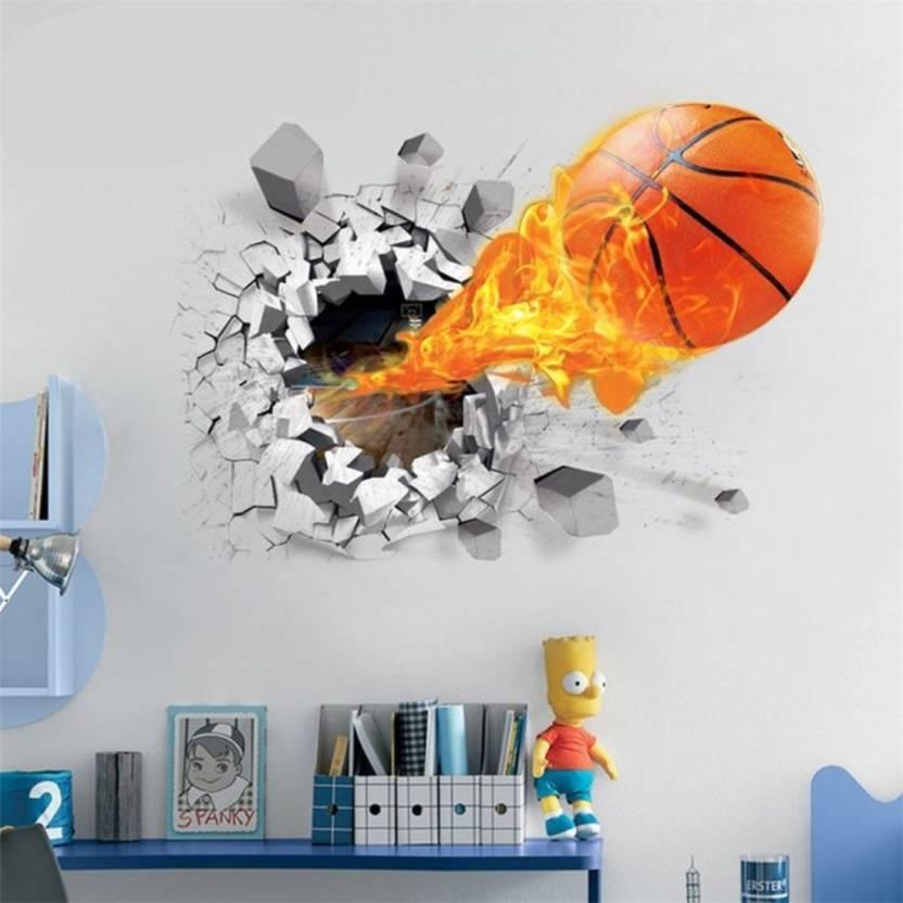 wall murals and decors medium 3d basketball wall sticker sticker