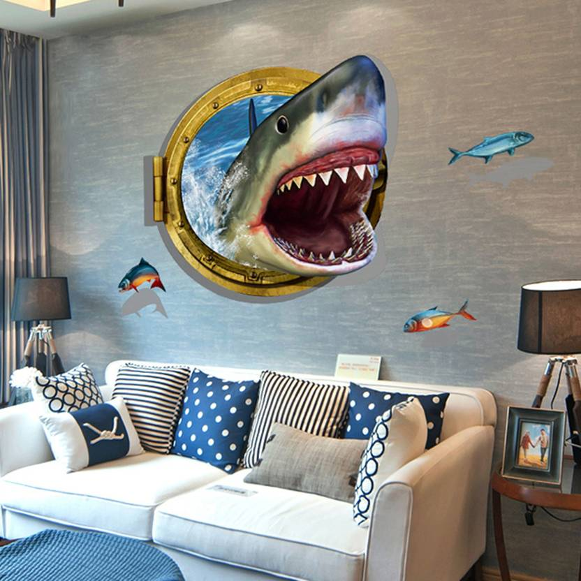 3d wall stickers for living room flipkart - living room ideas