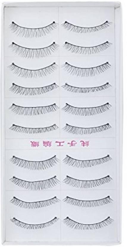 Siempre21 10 Pairs Black Sparse False Eyelashes Eye Lashes Extension