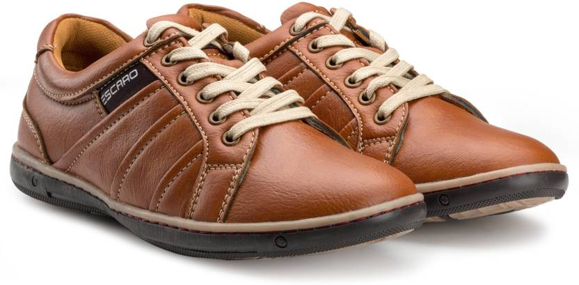 ae648ababced30 Escaro Sneakers For Men - Buy Tan Color Escaro Sneakers For Men ...