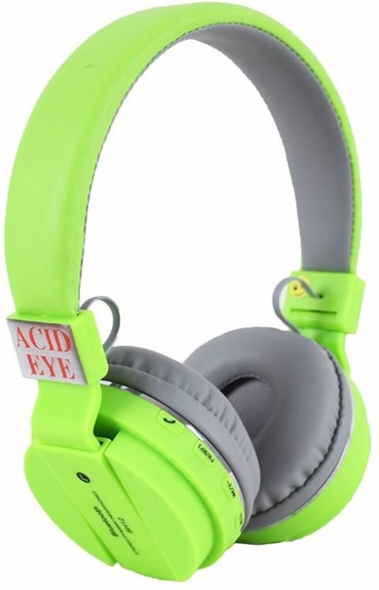 e43e546da1a Acid Eye SH-12 Green headphone Smart Headphones Price in India - Buy ...
