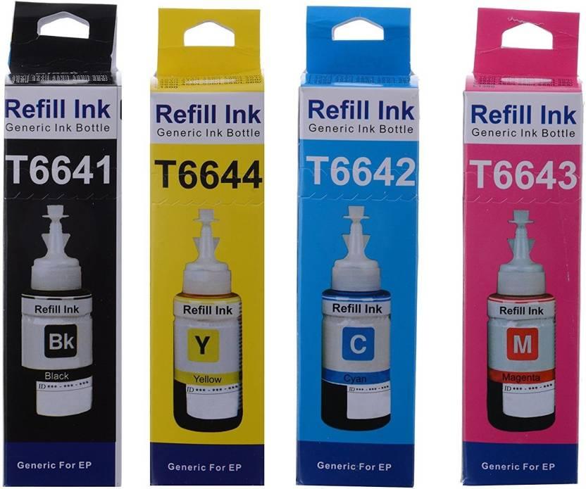 Print Cartridge Set For Epson L360 Multi Color Ink