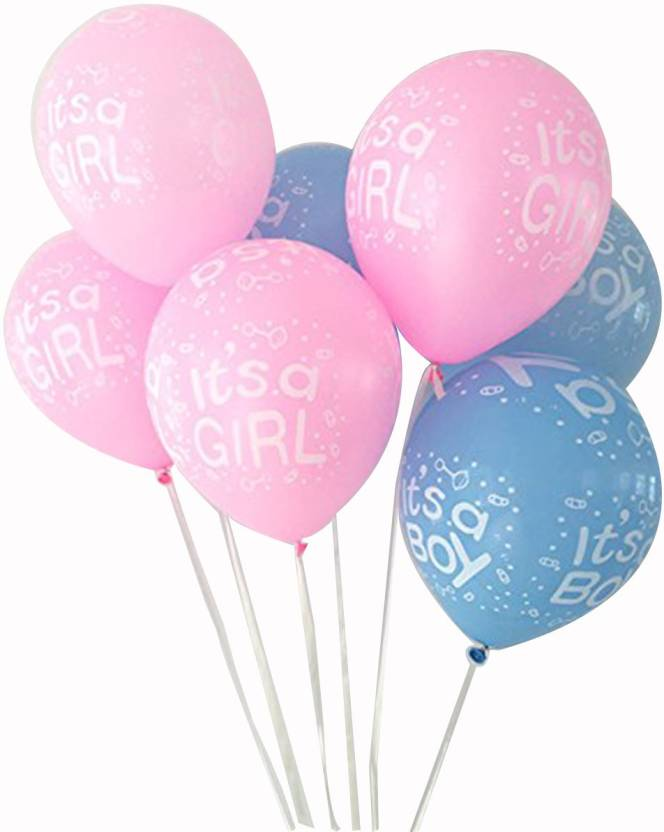 17639e5887a6b PARTY PROPZ Printed BABY SHOWER DECORATION/BALLOON PACK OF 25/BABY SHOWER  PARTY SUPPLIES Balloon (Blue, Pink, Pack of 25)