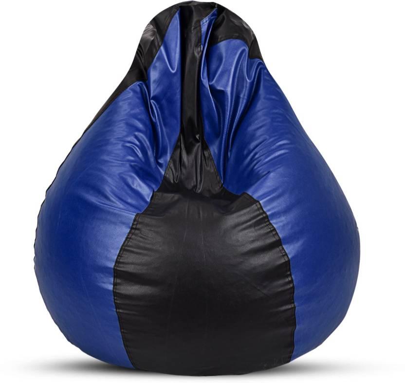 Sultaan XL Bean Bag Cover  Without Beans  Blue, Black