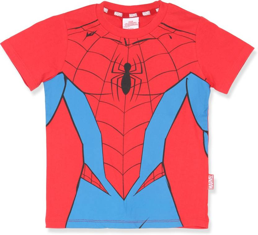 9bed563aade Marvel Spider Man Boy s Graphic Print Cotton T Shirt Price in India ...