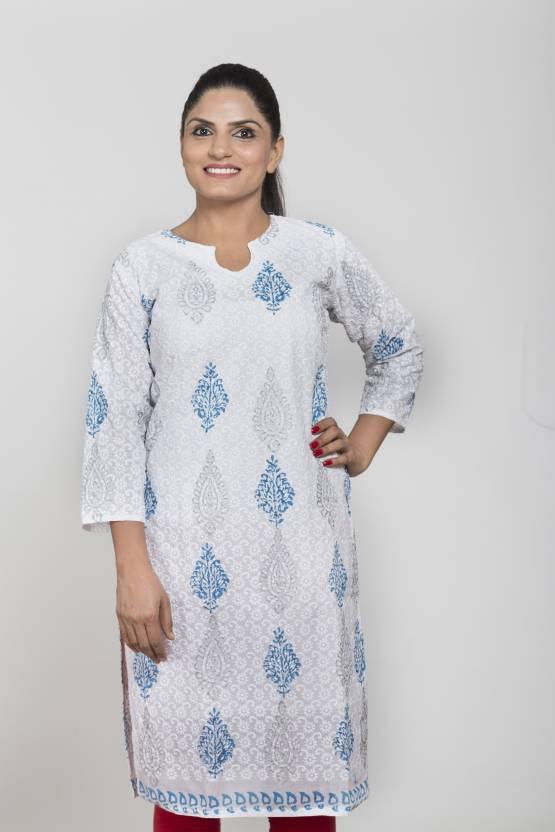 Lamara Women Chikan Embroidery A Line Kurta