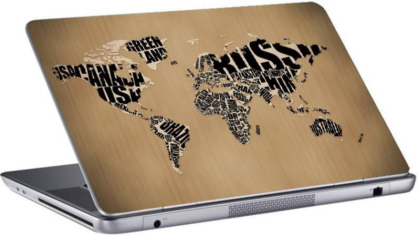 Gallery 83 newspaper world map laptop sticker 156 inch vinyl laptop gallery 83 newspaper world map laptop sticker 156 inch vinyl laptop decal 156 gumiabroncs Image collections