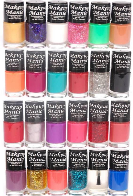 f61222a67 Makeup Mania Exclusive Nail Polish Set of 24 Pcs. Multicolor Set-86-87  (Pack of 24)