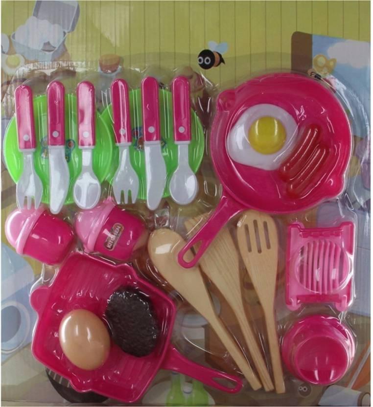 Hamleys Comdaq Kitchen Set With Pans And Cutlery Comdaq Kitchen