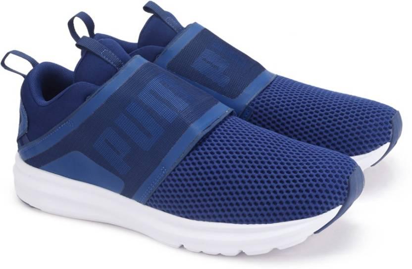 Puma Enzo Strap Running Shoes For Men - Buy Blue Depths-Puma White ... 338fa9d2f