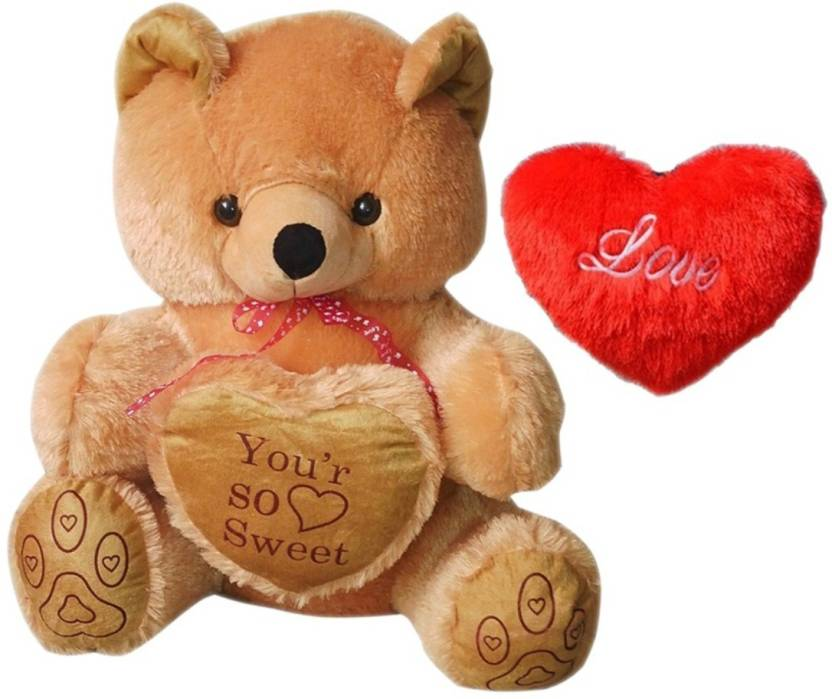 Teddy Bear With Heart Symbol Of Love 24 Inch Bear With Heart