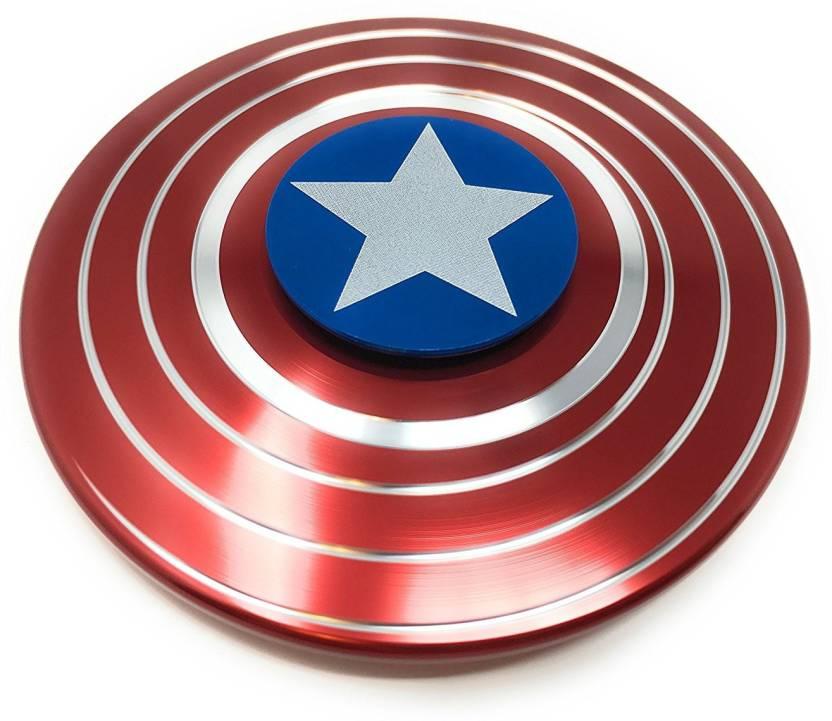 VibeX ™ Aluminium Alloy Crafted Limited Edition Captain America Fidget Spinner