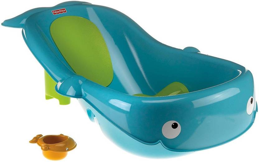 Fisher-Price N3429 Fisher-Price Precious Planet Whale of a Tub, Blue ...