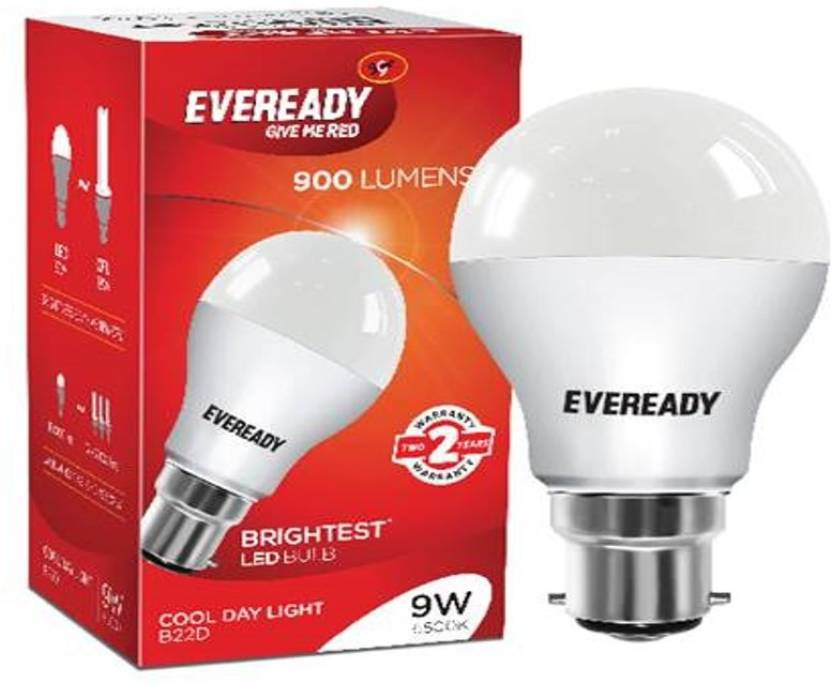 Eveready 9 W B22 LED Bulb  (White)