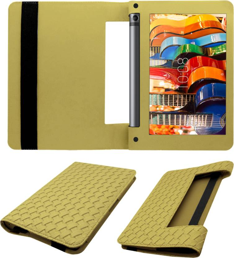 ACM Flip Cover for Lenovo Yoga Tab 3 8 inch Gold, Cases with Holder