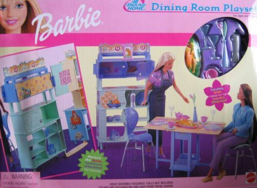 Barbie All Around Home Dining Room Playset - All Around Home ...