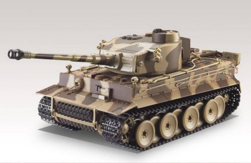 d037837ee87df Amazing Tech Depot German Tiger I Battle Tank R/C 1:24 Airsoft Metal Cannon  Model Heavy Panzer with Sound - Desert Camouflage (Multicolor)