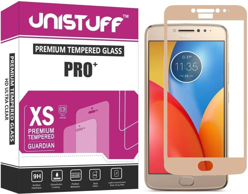 Unistuff Tempered Glass Guard for Motorola Moto E4 Plus