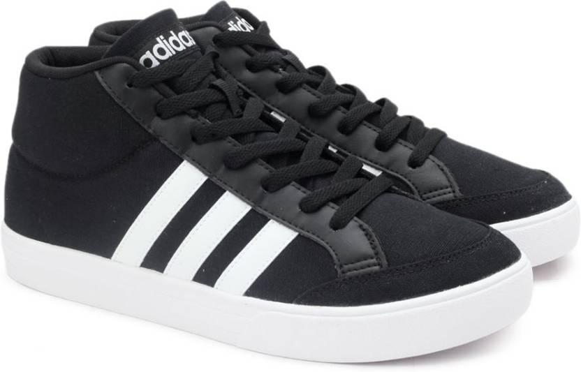adidas neo vs serie metà delle scarpe da tennis gli uomini comprano cblack / ftwwht