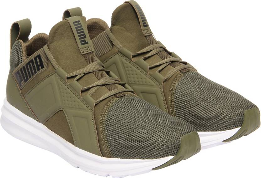 7d5cb796347a08 Puma Enzo Mesh Running Shoes For Men - Buy Olive Night-Puma White ...
