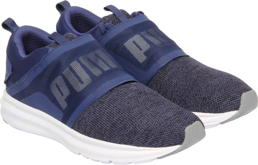 ec327592841640 Puma Enzo Strap Knit Running Shoes For Men - Buy Blue Depths-Puma ...