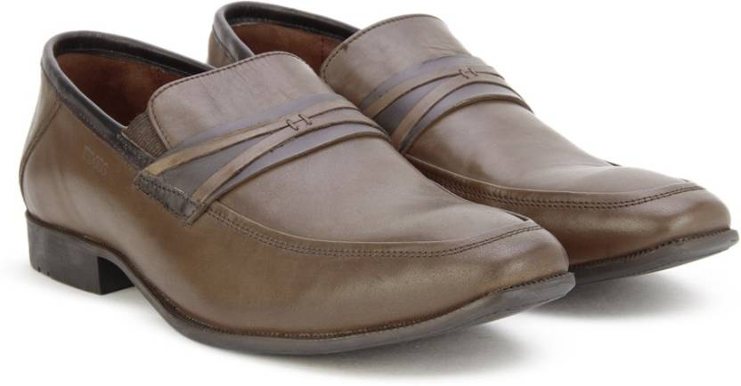 2dd98b870a Woods Genuine Leather by Woodland Slip On Shoes For Men - Buy BROWN ...